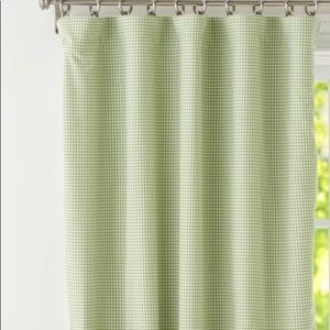 Pottery Barn Kids Green Gingham Blackout Curtain